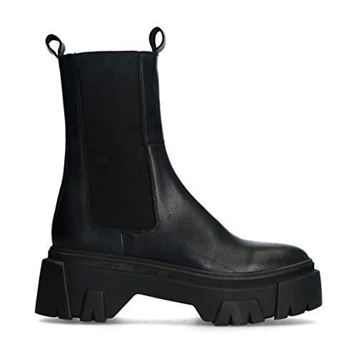 Schwarze Chelsea Boots aus Lederzwart Schwarz