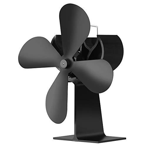 MeTikTok Sin Electricidad Fan De La Chimenea, Ventilador Horno 4 Cuchillas, Chimenea Invierno Tranquilo Calor A Casa Viaje para Madera/Estufa