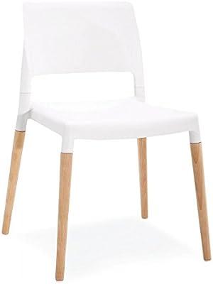 Sedie Impilabili Mercatone Uno.Cribel Dani Plus Sedia Similpelle Bianco 46x50x89 Cm 6 Unita
