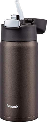 ピーコック魔法瓶工業 マグボトル ブラウン 0.4L ステンレスボトル ストロータイプ APA-40 T