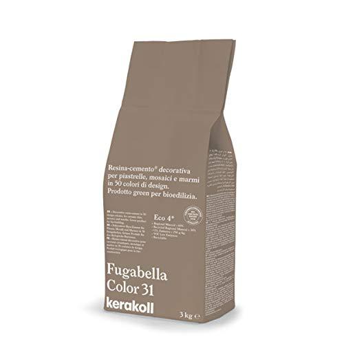 KERAKOLL FUGABELLA COLOR - 31 Sacco da 3 kg di stucco resina cemento decorativa per fughe