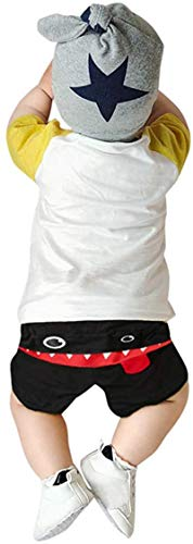 Dannel Toddler Baby Boys Clothes,Cartoon Tongue Long Trousers Casual Sweatpants Harem Pants,Blacka,Recommended Age,12-18 Months