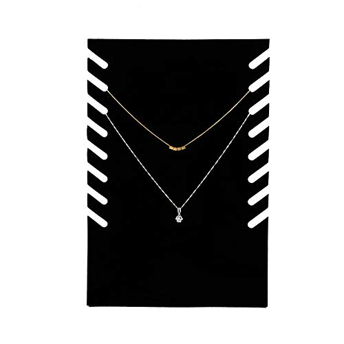 Semme Necklace Easel Showcase, Jewelry Organizer Display Black Flannel Jewelry Organizer Display for Necklace Pendant Chain
