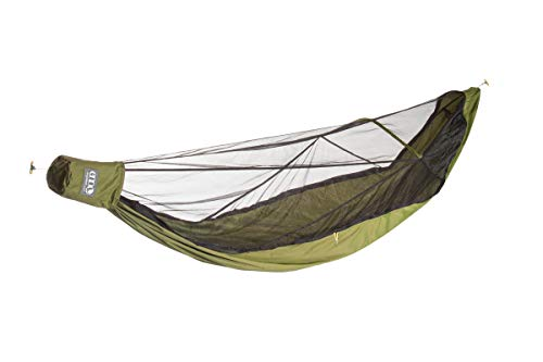 ENO - Eagles Nest Outfitters JungleNest Hammock, Includes Hammock and Bug Net, Grey