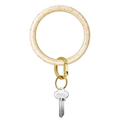 Townshine 3.8 Inch abnehmbare Armband Armreif Schlüsselanhänger - Auto Schlüsselring Männer und Frauen Mama Papa (Cremefarbenes Gold)