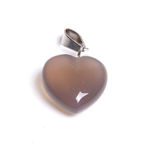 K-ONE 1 Pieza Colgante de Piedra de aventurina Verde Natural Amor corazón Colgantes de Piedra Encanto para Hacer Joyas Collar de Mujer