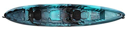 "perception Kayaks Rambler 13.5   Sit on Top Tandem Kayak   Recreational Kayak for Two   Storage with Tie Downs   13' 6""   Dapper"