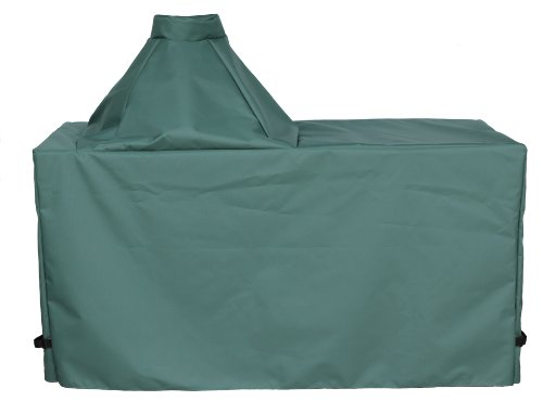 """Cowley Canyon Brand Large Ceramic Type Kamado Table Cover, 60"""" L-27 W-31 H. Fits Large Big Green Egg, Kamado Joe Classic and Others"""