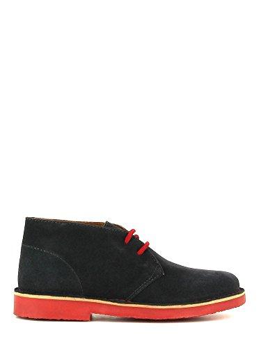 CAFèNOIR - Zapatos de Cordones para Hombre Gris Grigio/Rosso 40
