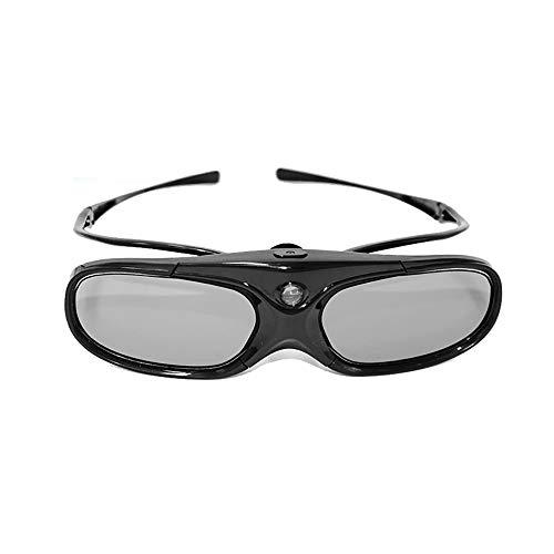 Mouwa 3D DLP Link Brille, Active Shutter 3D Brille DLP Eingebauter Akku 40 Stunden Für Benq Optoma Dell Mitsubishi Samsung Ace Alle 3D DLP-Projektoren Home Cinema Eyewear,1Pack
