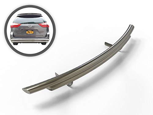 VANGUARD VGRBG-1039-1118SS For Toyota Sienna 2004-2019 Rear Bumper Guard Stainless Steel Double Layer Style
