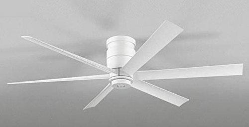 薄型 軽量 DCモーター大風量 簡易取付 オーデリック ホワイト シーリングファン 【OLF-001】