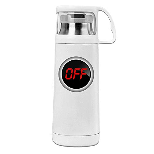 Bestqe Vakuumisolierte Trinkflasche,Wasserflasche, Off Insulated Stainless Steel Thermos Cup Portable Water Bottle with...