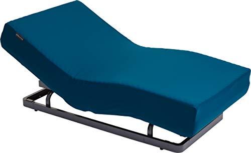 パラマウントベッド 電動リクライニングベッドセット インディゴブルー 幅98x奥199x高35cm(シングルサイズ) アクティブスリープ 【8梱包】