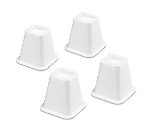 Whitmor Bed Risers White Set of 4