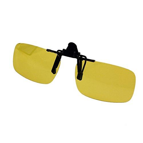 QHGstore Gafas Clip polarizado tir¨n encima de las gafas de sol de conducci¨n de la visi¨n nocturna S