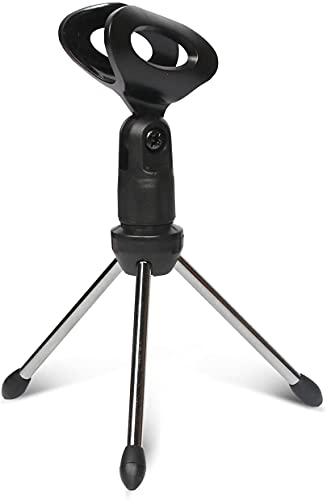 Mic Satnd Microphone Stands Tripod Tabletop Desktop Podcast Streaming Mini Holder 3 LegFoldable 5 Core MINI TRIPOD MIC STAND ⭐⭐⭐⭐⭐Ratings ✔️ Best Deal
