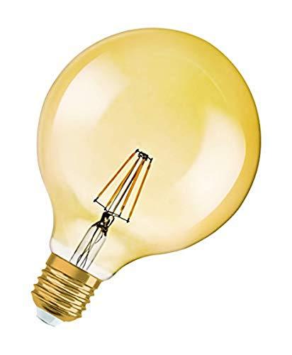 Osram LED Vintage Edition 1906 Lampe, in Ballform mit E27-Sockel, nicht dimmbar, 4 W=35 W, Klar, Warmweiß - 2500 Kelvin, 1er-Pack
