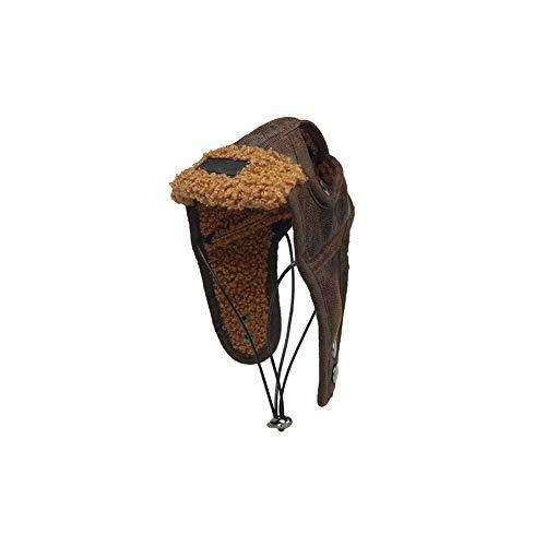 Gcroet1PC Aviador del Sombrero del Perro El Perro Piloto Sombrero con Orejeras del Casquillo del Invierno del Animal DoméStico Sombrero Peludo Caliente para PequeñAs Y Medianas Perros (M)