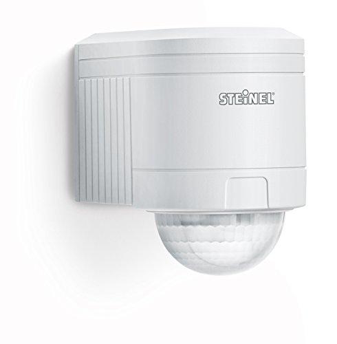 Steinel Bewegungsmelder IS 240 DUO weiß, 240° Bewegungssensor, 12 m Reichweite, Innen und Außen, inkl. Eckwandhalter