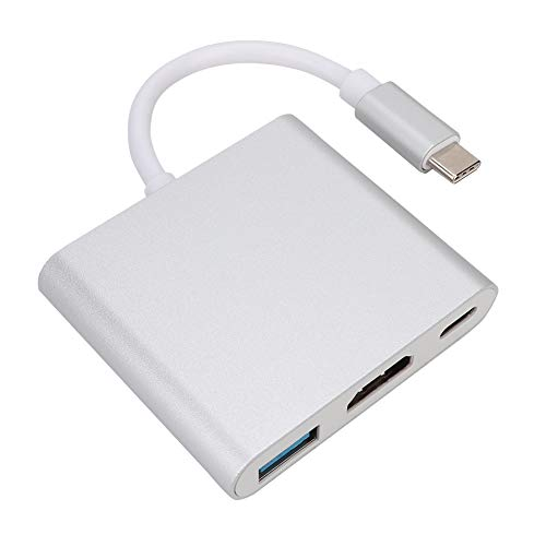 ASHATA HDMI-USB-C-Hub-Adapter für Nintendo Switch, Typ C auf HDMI + PD-Ladegerät + USB3.0-Konverter-Adapter für Switch-Spielekonsole, kompatibel mit MacBook Pro