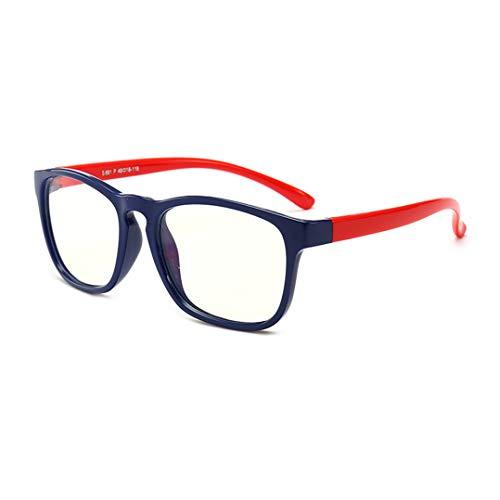 Kinderbrillen Klassische Klare Linse Brille Anti Blaulicht Brillen Silikon Rahmen Anti Müdigkeit für Jungen Und Mädchen