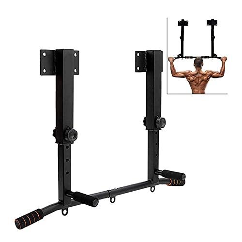 XYWCHK Barra de pull up, montada en la pared Pull Up en la barra DIP Bar Gym Equipment Equipment Equipo de entrenamiento Inicio Dip y 3 en 1 Station Pull Up Station Heavy  Fitness Trainer for Home Gy