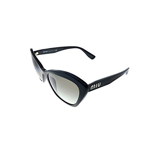 miu miu 0MU 05US Occhiali, Black/Grey Shaded, 55 Donna