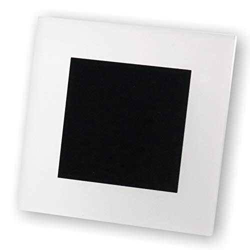 Iluminación LED para escaleras, 230 V, iluminación escalonada, lámpara de pared, ahorro de energía, iluminación LED Q30, plexiglás, Negro, G4 2.00watts 230.00volts
