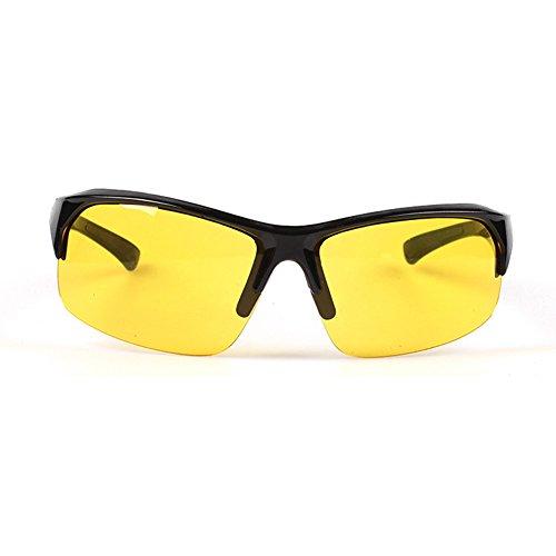 MSYOU Gafas de Sol clásicas de Estilo Retro, Unisex, para Actividades al Aire Libre, para Montar en Bicicleta, antirayos UV, Resistentes a la irradiación, Amarillo, 13.7 * 3.1cm
