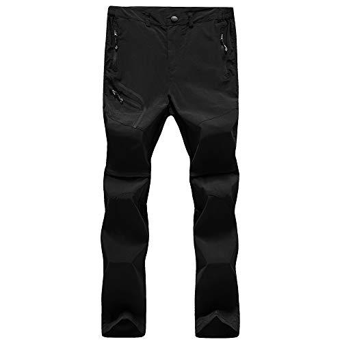 GITVIENAR Pantalon de Cyclisme à Manches Longues pour Homme Séchage Rapide et léger Respirant pour été et Printemps, Homme, Noir, EU XL (Taille: 83-94CM)