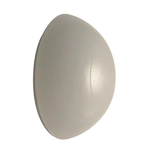 Free P&P Lot de 2 butées de porte en caoutchouc adhésif Blanc 32 mm