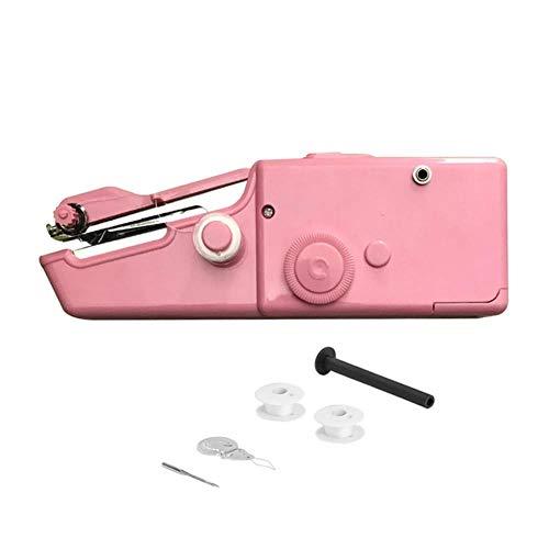 K-ONE - Máquina de coser a mano portátil mini herramientas de costura eléctricas de hilo de coser, Máquina rosa, CHINA