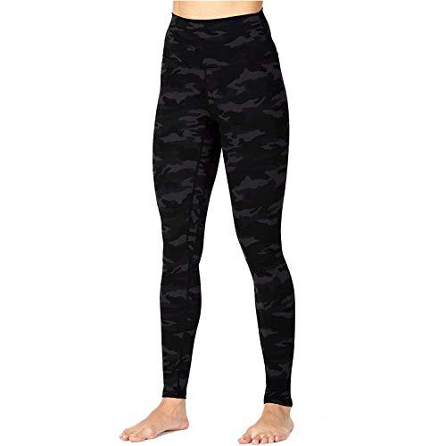 SHOBDW Leggings Mujer Cintura Alta Mallas Pantalones Deportivos Leggins con Bolsillos para Yoga Running Elásticos Reducir Vientre Fitness Abdomen Medias sólido Leopardo(Negro,L)