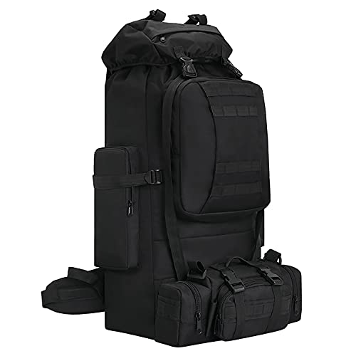 100L Camping Hiking Backpack,Molle military Tactical rucksack backpack,Waterproof Lightweight Hiking Backpack(Black)