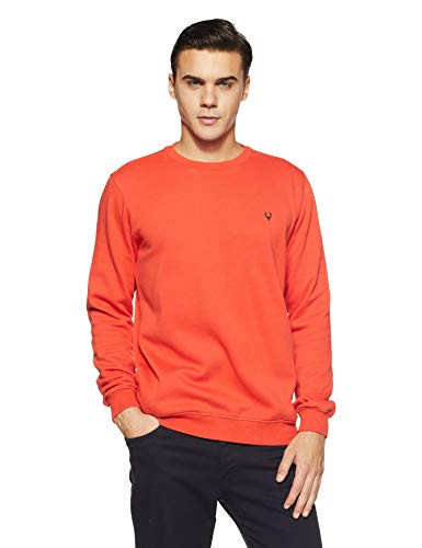 Allen Solly Men's Sweatshirt (ASSTORGPF16842M_Orange 17-1558 TCX)