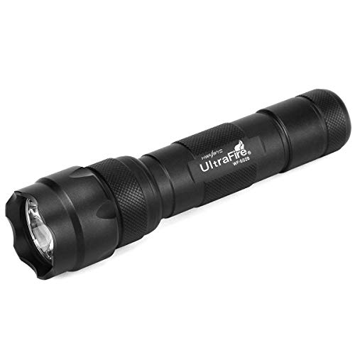 Ultrafire WF-502B Mini LED Flashlight 1000 Lumens Single Mode Tactical EDC Emergency Flashlight Portable Bright 18650 Torch (Battery Not Included)