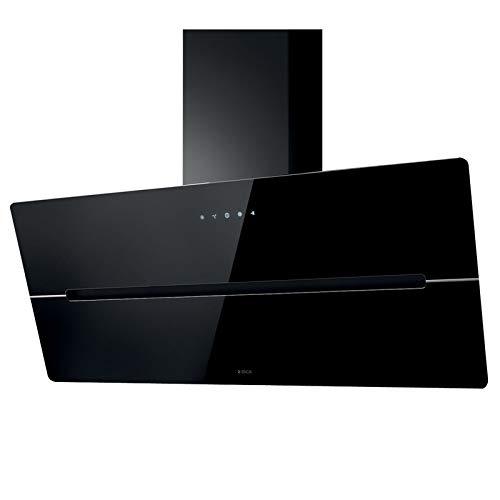 Dunstabzugshaube Elica WISE BL/A90, 90 cm, Glas schwarz, mit Touch-Control, LED, 4 Stufen