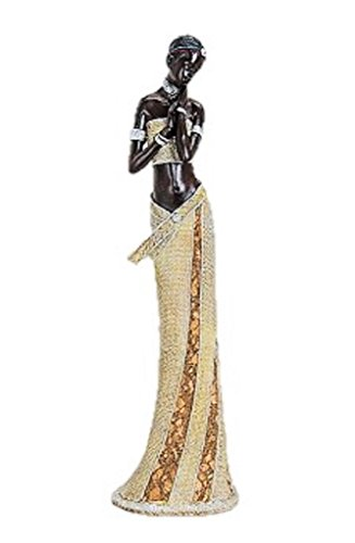 Geschenkestadl Afrikanerin 42cm große afrikanische Frauen Figur Afrika