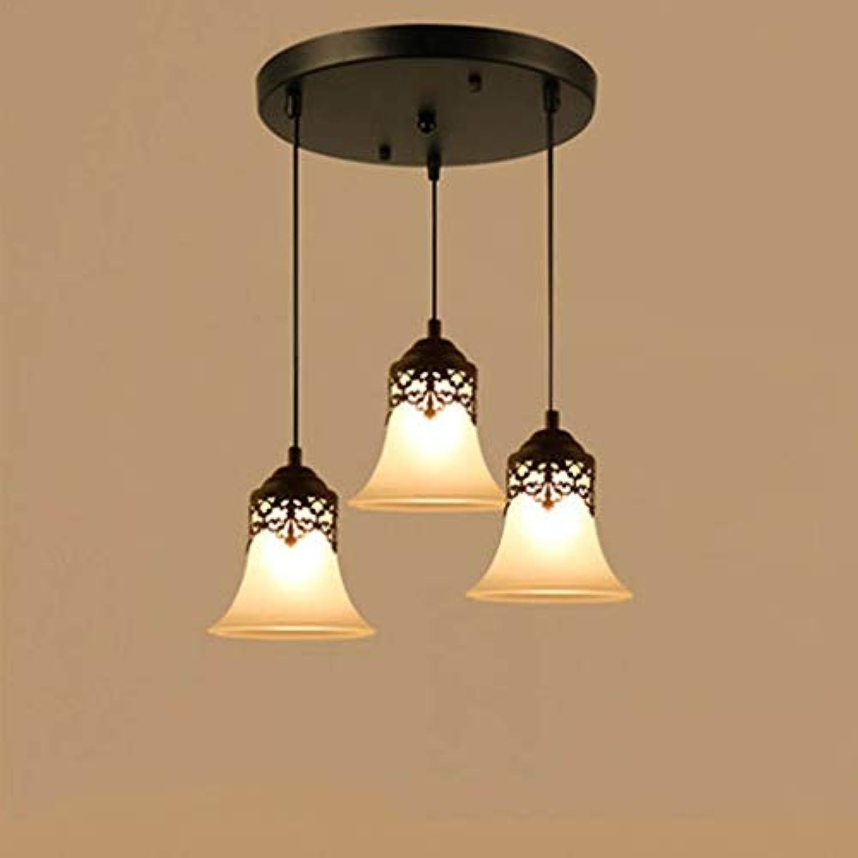Kronleuchter kreative Persnlichkeit Bar Wohnzimmer Lampen Retro einzelnen Kopf drei einfache Restaurant Lichter Mode. Z (Farbe  C)