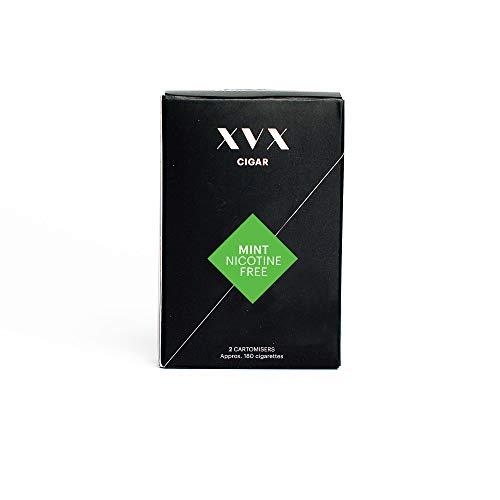XVX CIGAR Refill - Electronic Cigar Refill - Mint Flavour - 1800 Puffs Per 2 Pack - 900 Puffs Per Cartridge - E Cigarette - E Cigarettes Shisha - Nicotine Free