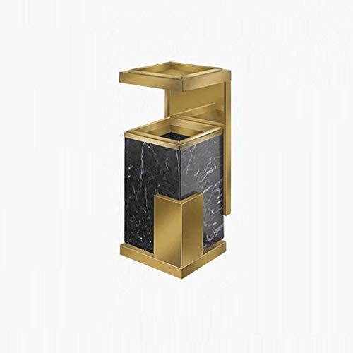 Hotel Lobby vuilnisemmer met asbak roestvrij staal marmer hotel lobby lift verticale open haard (kleur: zwart) goud