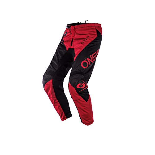 O'NEAL   Motocross-Hose   MX Enduro Motorrad   Atmungsaktiv, Ergonomisch vorgeformte Beine, Schutz- und Stretch-Einsätze   Element Pants Racewear   Erwachsene   Schwarz Rot   Größe 30 (46)