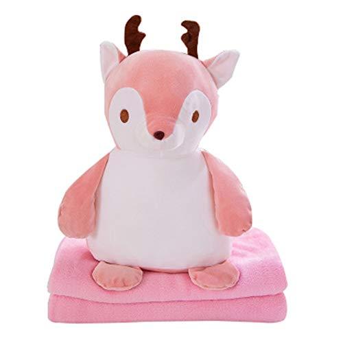 ZYBIN winterdeken flanel comfortabel zacht decoratief kussen voor dual gebruik geschikt voor meisjes jongens mannen vrouwen hond katten - roze