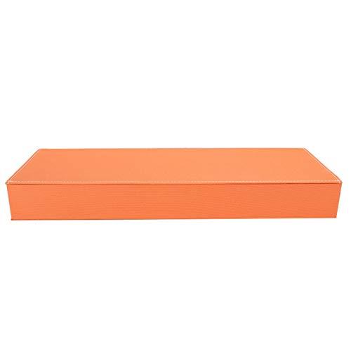 DAUERHAFT Glasses Storage Box Prevent Dust 8 Grids Exquisite Workmanship Glasses Display Case Neat and Orderly Travel Sunglasses Stable(Orange)