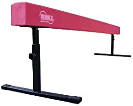 Nimble Sports Pink Adjustable Balance Beam, 8 Feet Long, 12 to 18 Inches High
