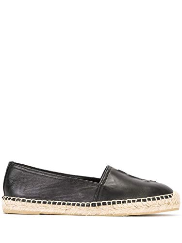Luxury Fashion | Saint Laurent Dames 458573B34001000 Zwart Leer Espadrilles | Seizoen Permanent
