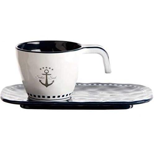 Marine Business SET 6 TAZZINE DA CAFFE' + PIATTINO SAILOR SOUL, Ø 6 cm, H 5 cm