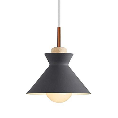 Lámpara macaron de aluminio de la lámpara de la sombra de Macaron Nordic Loft Loft para la cocina del dormitorio XYJGWDD (Color : Gray)