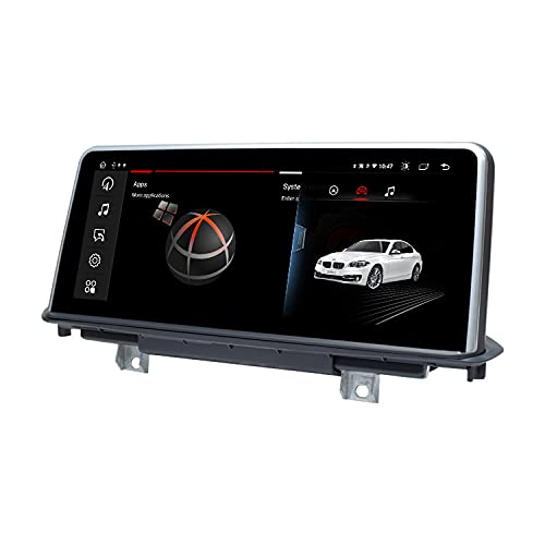 LIBINA Compatible con navegación GPS BMW X5 X6 F15 F16, Sistema Android 11 CIC 8 Core 4GB RAM 128GB ROM con Sistema de Pantalla táctil de 10.25 Pulgadas WiFi + carplay + DVR